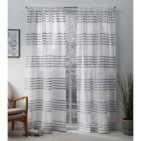 Monet 84-Inch Rod Pocket Window Curtain Panel Pair in Silver