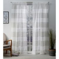 Monet 84-Inch Rod Pocket Window Curtain Panel Pair in Taupe