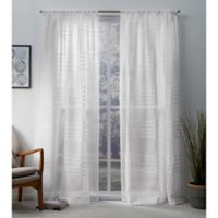 Monet 108-Inch Rod Pocket Window Curtain Panel Pair in White