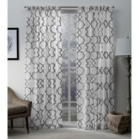 Exclusive Home Muse 96 Inch Rod Pocket Window Curtain Panel Pair In Silver