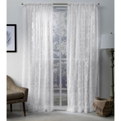 Exclusive Home Muse 108 Inch Rod Pocket Window Curtain Panel Pair In White