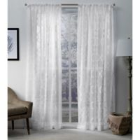 Exclusive Home Muse 108-Inch Rod Pocket Window Curtain Panel Pair in White