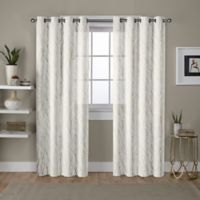 Exclusive Home Woodland 96-Inch Grommet Window Curtain Panel Pair in White