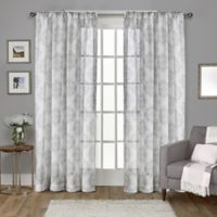 Nagano 108-Inch Rod Pocket Window Curtain Panel Pair in Light Grey