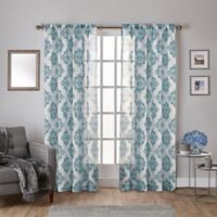 Nagano 96-Inch Rod Pocket Window Curtain Panel Pair in Teal