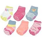 Capelli New Size 12-24M 6-Pack Happy Days Crew Socks
