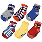 Capelli New York Size 3-12M 6-Pack Transportation Crew Socks