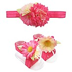 Toby™ 2-Piece Mixed Floral Headband and Footwrap Set in Pink
