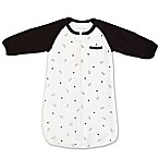 Tealbee Size 0-6M Milk Bottle Long Sleeve Wearable Blanket in White/Black
