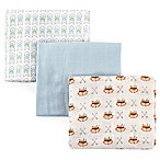 Luvable Friends® 3-Pack Muslin Swaddle Blankets in Blue Wild & Free
