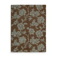 Nourison Skyland 5-Foot 6-Inch x 7-Foot 5-Inch Room Size Rug in Chocolate and Blue