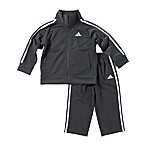adidas® Size 3M 2-Piece Tricot Tracksuit Set in Grey