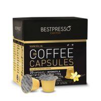 Bestpresso 40-Count Vaniglia Pack Nespresso® Compatible Gourmet Coffee Capsules