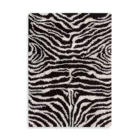 Nourison Splendor Zebra 7-Foot 6-Inch x 9-Foot 6-Inch Room Size Rug in Black and White