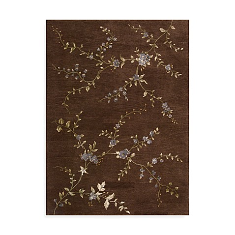 Nourison Modern Elegance 5-Foot 6-Inch x 7-Foot 5-Inch Room Size Rug in Brown