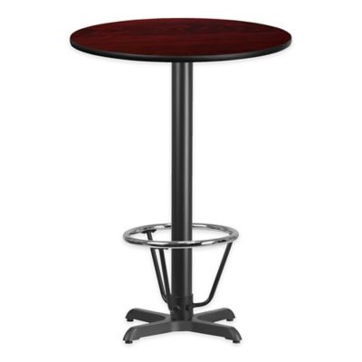 Flash Furniture 30 Inch Round Laminate Table With X Base In Mahogany