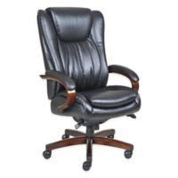 La-z-boy® Faux Leather Swivel Office Chair in Black