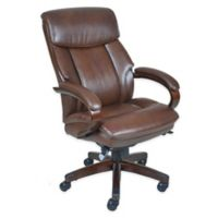 La-Z-Boy® Canterbury Bonded Leather Executive Office Chair in Chestnut