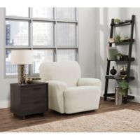 Smart Fit Portland 4-Piece Stretch Recliner Slipcover in Ivory