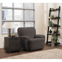 Smart Fit Portland 4-Piece Stretch Recliner Slipcover in Charcoal