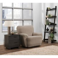 Smart Fit Portland 4-Piece Stretch Recliner Slipcover in Taupe