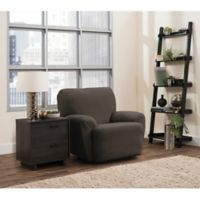 Smart Fit Portland 4-Piece Stretch Recliner Slipcover in Brown