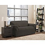 Smart Fit Portland 1-Piece Stretch Loveseat Slipcover in Brown