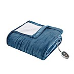 True North by Sleep Philosophy Ultra Soft Heated Queen Blanket in Blue
