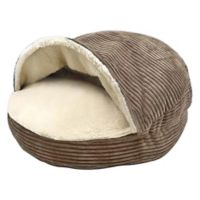 Precious Tails Cozy Cave 25-Inch Pet Bed in Brown