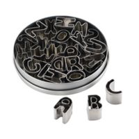 Cake Boss® Stainless Steel 26-Piece Alphabet Cookie Cutter Set