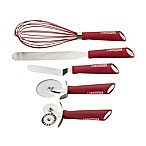 CakeBoss™ Stainless Steel 5-Piece Baking and Decorating Tool Set in Red
