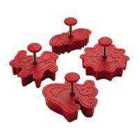 CakeBoss™ Decorating 4-Piece Halloween Fondant Press Set in Red