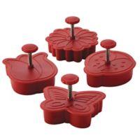 CakeBoss™ Decorating 4-Piece Springtime Fondant Press Set in Red