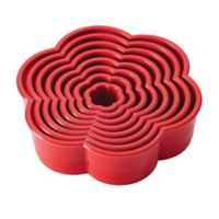 CakeBoss™ Decorating 8-Piece Nylon Daisy Cookie Cutter Set in Red