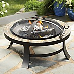 "30"" Slate Firepit with PVC Cover"