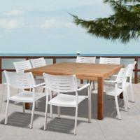 Amazonia Noordam 8-Piece Outdoor Dining Set in Brown/Grey