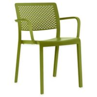 Resol Trama Plastic Armchairs in Olive Green (Set of 2)