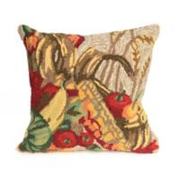 Liora Manne Frontporch Basket Square Indoor/Outdoor Throw Pillow in Natural