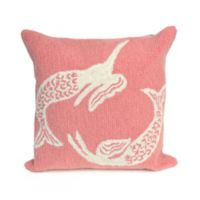 Liora Manne Frontporch Mermaid Square Indoor/Outdoor Throw Pillow