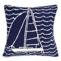 Buy Navy Outdoor Throw Pillows Bed Bath Beyond