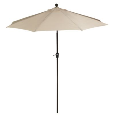 9 Foot Outdoor Round Umbrella With Aluminum Frame In Natural
