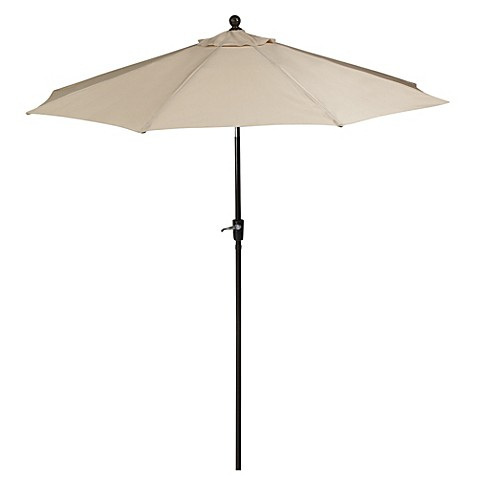 9-Foot Round Aluminum Umbrella in Natural