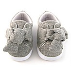 Rising Star™ Size 0-3M Knot Sneakers in Grey