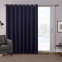 Sateen 84-Inch Grommet Top Room Darkening Window Curtain Panel Pair in Blue
