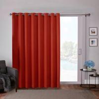 Sateen 84-Inch Grommet Top Room Darkening Window Curtain Panel Pair in Orange