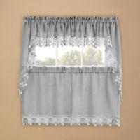 Lillian Kitchen Window Swag Pair in Grey