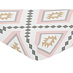 Sweet Jojo Designs Aztec Fitted Crib Sheet in Pink/Grey