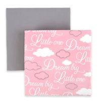 "Tadpoles ""Dream Big"" Fitted Crib Sheets in Pink (Set of 2)"