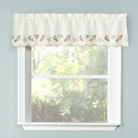 Seashells Kitchen Window Valance in Natural