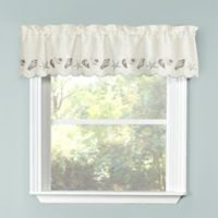 Seashells Kitchen Window Valance in Blue